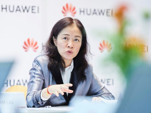 Huawei senior vice president and board member; Ms. Catherine Chen. (Photographer; Wang Zichen/Xinhuanet)