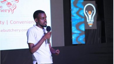 Photo of YEP Beneficiary: Tony Ayebare, IT Graduate Ventures into Starting The First Online Butchery