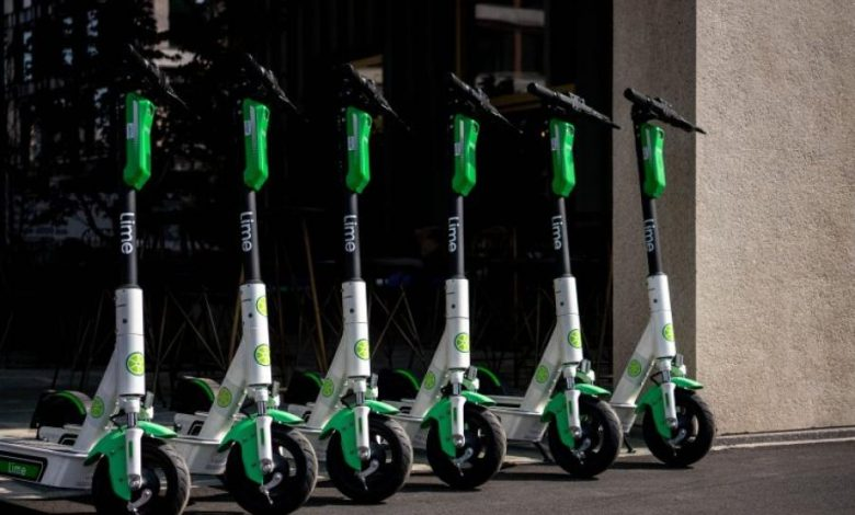 Most transportation companies are now adding electric scooter rides for their customers as it is not costs an arm and a leg. Pictured are Lime eScooters and it is the best on-demand startup and transportation rental company in the US. (COURTESY PHOTO/Augsburger Allgemeine)