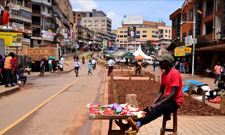 A small business owner seen on the streets of Kampala after businesses reopened in after months of lockdown in the country over the outbreak of corona virus. (FILE PHOTO)
